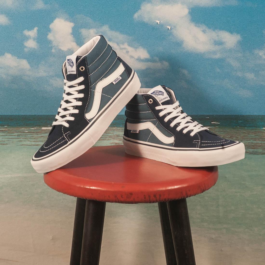 Vans Sk8 Hi Pro Navy Gum Skate Shoes