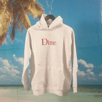 Dime MTL - Classic Embroidered Logo Hoodie - Ash