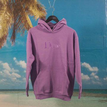 Dime MTL - Classic Embroidered Logo Hoodie - Purple