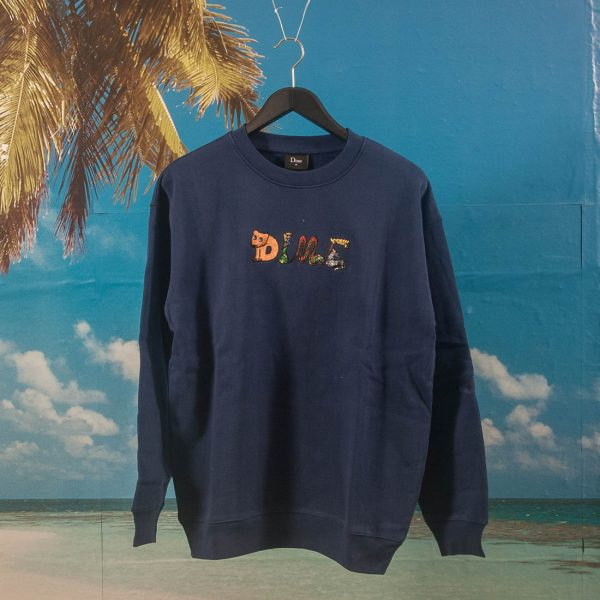 Dime MTL - Zoo Embroidered Crewneck - Navy