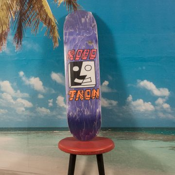 Robotron Skateboards - Split Face Purple Deck - 8.2