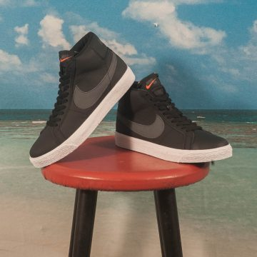 "Nike SB - Blazer Mid Zoom ""Orange Label"" ISO - Black / Dark Grey"