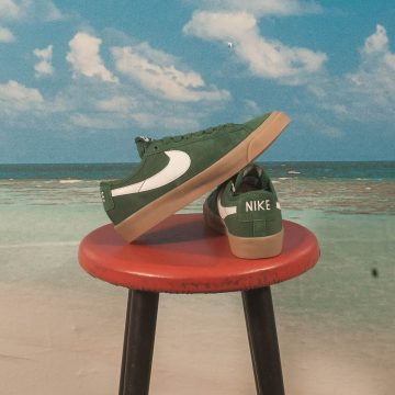 Nike SB - GT Blazer Low Pro QS - FIR / White-FIR-Gum Light Brown