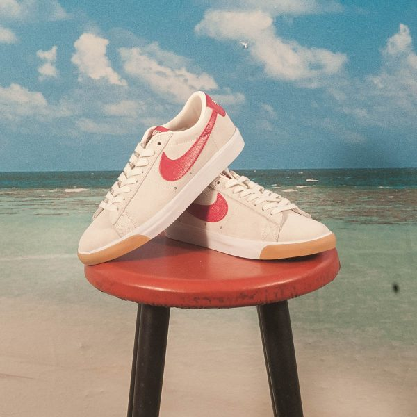 Nike SB - GT Blazer Zoom Low - Sail / Cardinal Red-White
