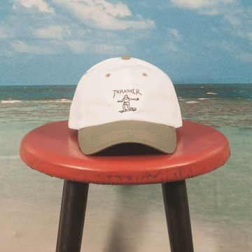 Thrasher - Gonz Old Timer Dad Hat - White / Olive