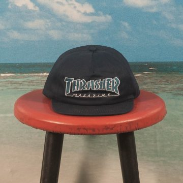 Thrasher - Outlined Snapback Cap - Navy / Grey