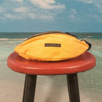 Favorite Skateboards - Corduroy Hip Bag - Mustard / Gold