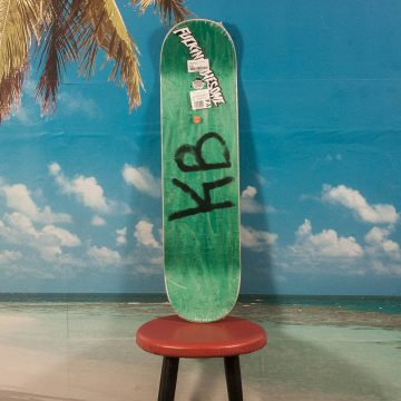 "Fucking Awesome - Kevin Bradley ""World Fucking"" Deck - Green / Pink - 8.18"