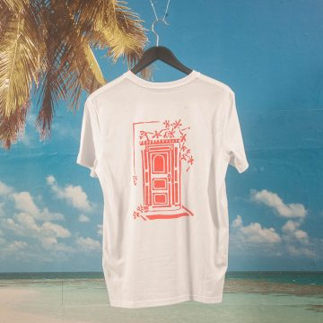 "Salut Skateboards - Steffi Bauer ""Munich Doors"" T-Shirt - White"