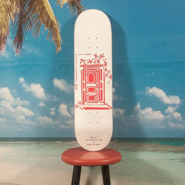 "Salut Skateboards - Seffi Bauer ""Munich Doors"" Deck - Red - 8.125 / 8.25 / 8.5"
