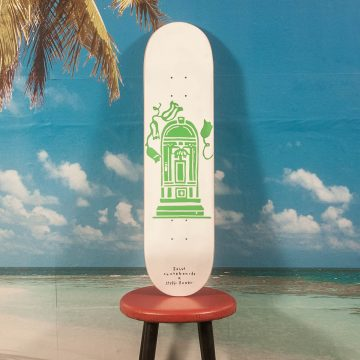 "Salut Skateboards - Seffi Bauer ""Munich Doors"" Deck - Green - 8.0 / 8.125 / 8.25 / 8.5"