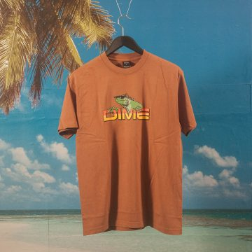 Dime MTL - Lizard T-Shirt - Coffee