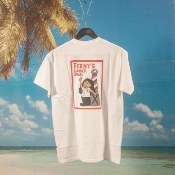 Snack Skateboards - Fernys Barber Shop T-Shirt - White