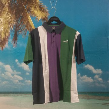 Snack Skateboards - Alive Pique Polo - Green / Wine