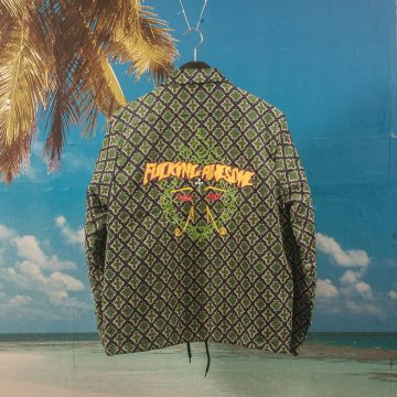 Fucking Awesome - Eyes Coaches Jacket - Green