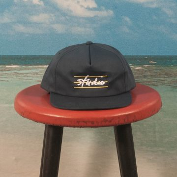 Studio Skateboards - Bars Unstructured Snapback Cap - Navy