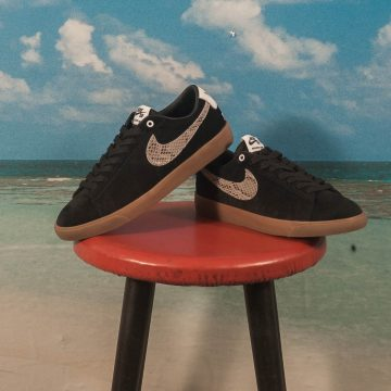"Nike SB - Blazer Low GT ""Wacko Maria"" QS - Black / Light Bone - White - Gum Med Brown"