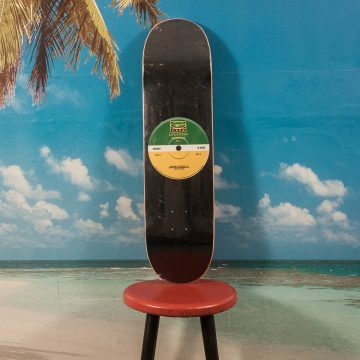 "Skateboard Cafe - ""45"" Green/Yellow Deck - 8.25"