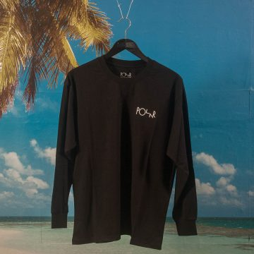Polar Skate Co. - ACAB Fill Logo L/S T-Shirt - Black