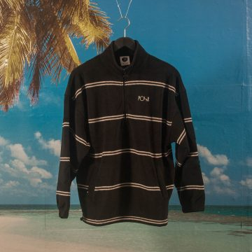Polar Skate Co. - Stripe Fleece Pullover 2.0 - Black