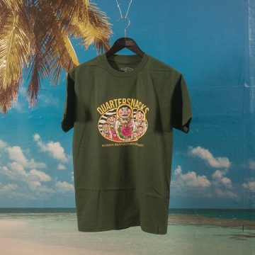 Quartersnacks - Russian Doll T-Shirt - Forrest Green