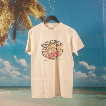 Quartersnacks - Russian Doll T-Shirt - Cream