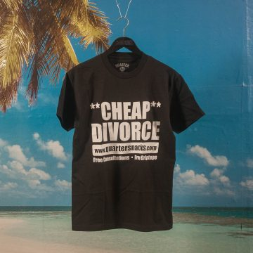 Quartersnacks - Divorce T-Shirt - Black
