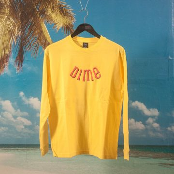 Dime MTL - Whirl L/S T-Shirt - Yellow