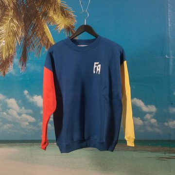 Fucking Awesome - FA Primary Crewneck - Navy / Red / Yellow