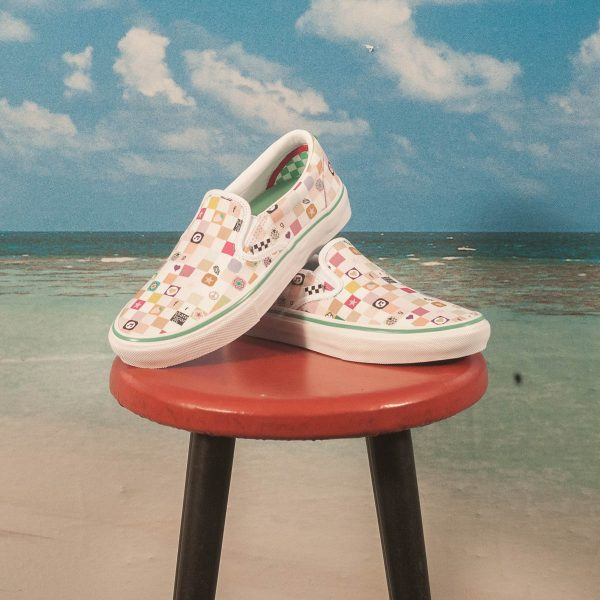 Vans - Skate Slip-On Ltd. ''Frog Skateboards'' - White