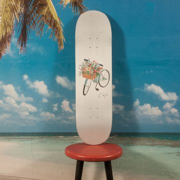 Skateboard Cafe - Flower Basket Grey Deck - 8.5
