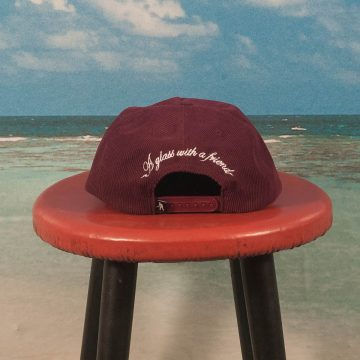 Pass~Port - With A Friend 5 Panel Cap - Burgundy