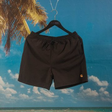 Carhartt WIP - Chase Swim Trunk - Black / Gold