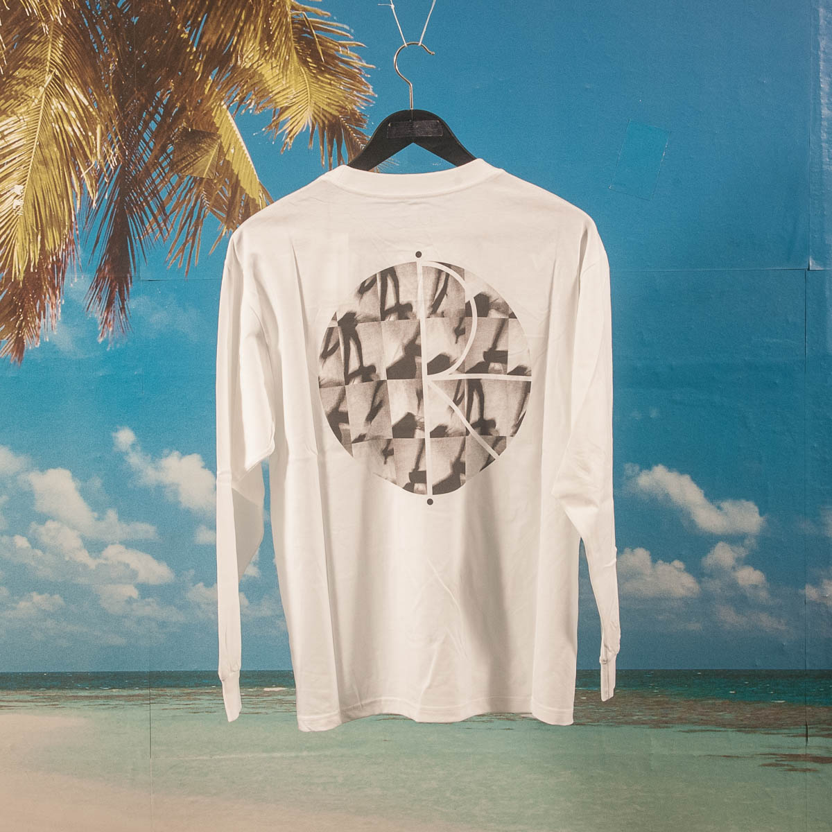 Polar Skate Co. - Sequence Fill Logo L/S T-Shirt - White