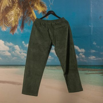 Krooked - Eyes Elastic Cord Pant - Dark Green