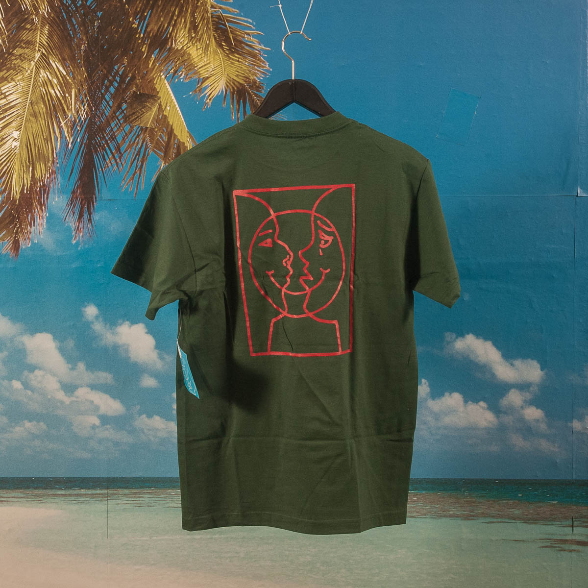 Krooked - Moon Smile Raw - T-Shirt - Forrest Green