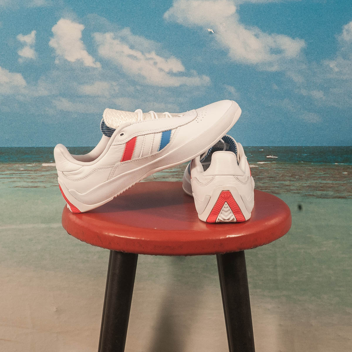adidas Skateboarding - Puig - White / Blue / Red