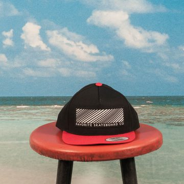 Favorite Skateboards - Striped Snapback Cap - Black / Red